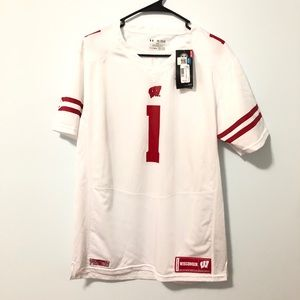 Authentic Under Armour Wisconsin Football Jersey 1